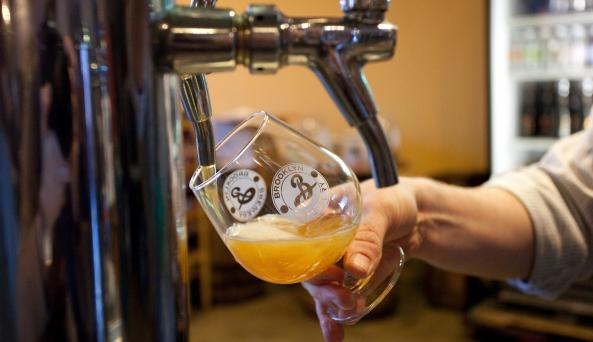 Brooklyn Brewery tap