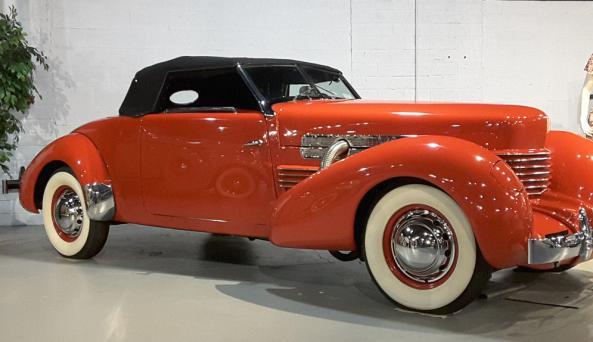 1936 Auburn Boattail Speedster on loan from Mike Stolarcyk, Whitney Point, NY