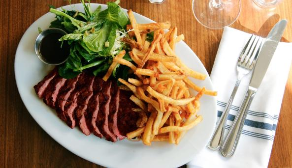 French Louie steak frites