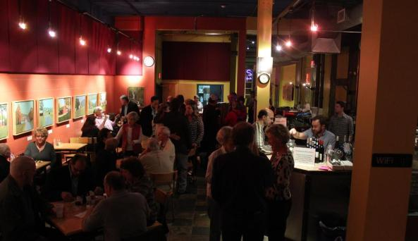 The Little Theater in Rochester, NY has a full cafe, a music stage and local art shows.