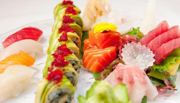 Delicious sushi at Lure Fishbar in Manhattan