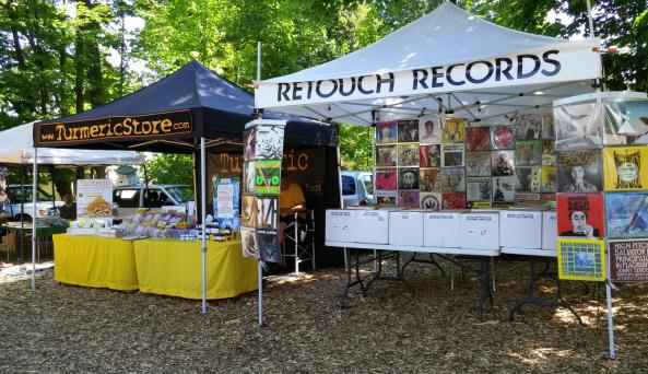 Retouch Records and Tumeric Store support music and health at the flea