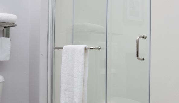 Shower With Modern Glass Doors