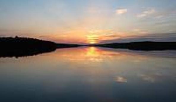 Drift Inn Lodge Pond Salmon River Sunset