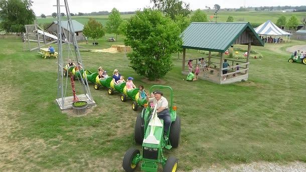 Kids rides at Leaping Deer