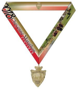 Medal w/ribbon race