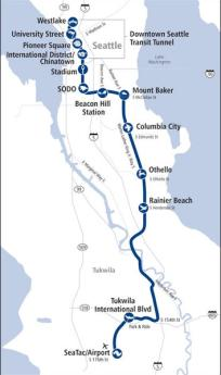 Seattle Transportation Solutions Light Rail Map