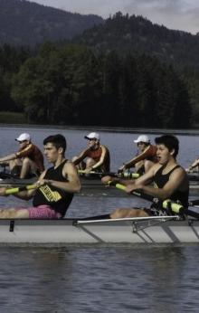 Covered Bridge Regatta on Dexter Lake by Dave Horton