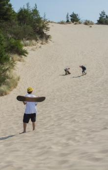 Sandboarding at the Oregon Dunes