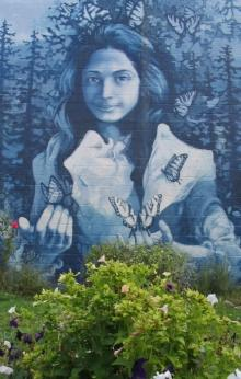 Opal Whitely Mural in Cottage Grove by Josh Alder
