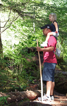 Family Hiking McKenzie River by Jack Hilson