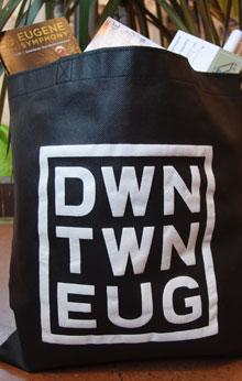 Duck Downtown Tote Bags
