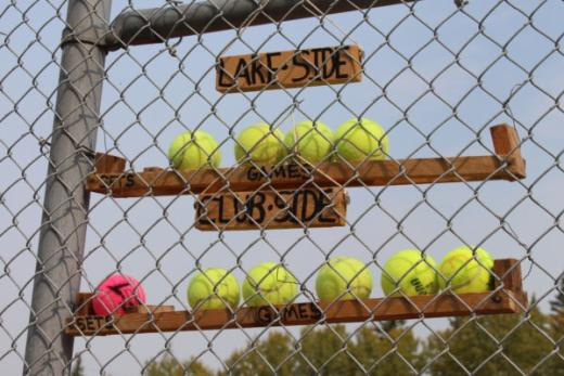 Scorekeeping at the Clear Lake Tennis Courts