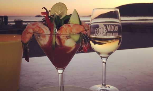 Prawn cocktail at sunset