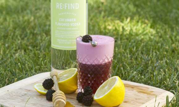 Blackberry Bees Knees Cocktail