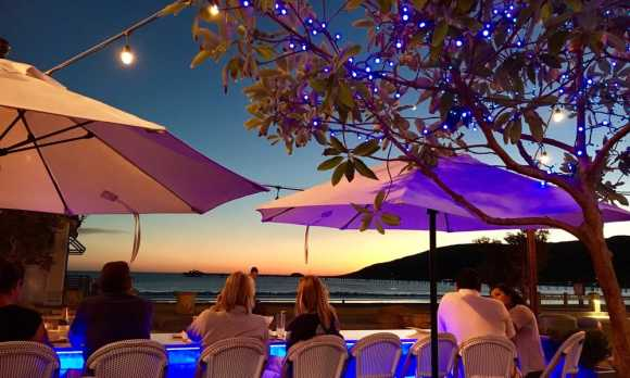 Blue Moon bar at sunset