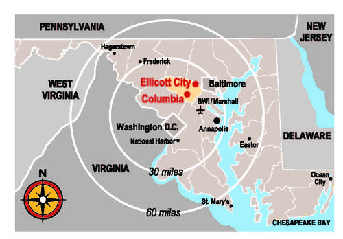 Howard County convenient location map