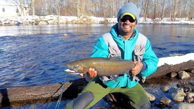 winter fishing at Salmon River