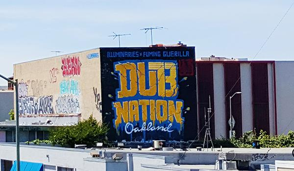 Warriors Oakland Mural