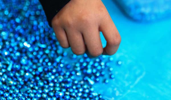 Bead Town blue beads