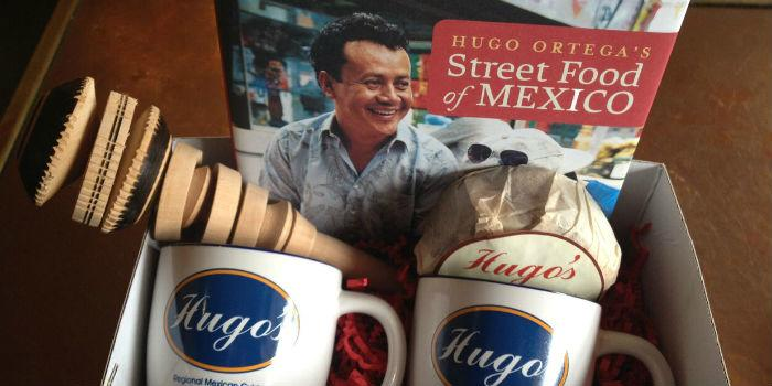 Hugo Ortega's Street Food of Mexico book cover and gift basket