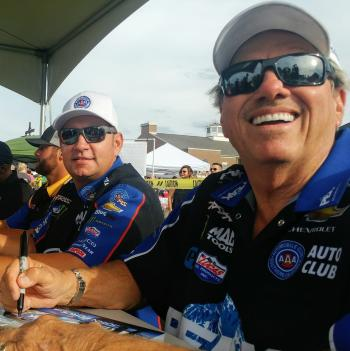 Meet NHRA drivers like John Force at the Big Go Block Party on Aug. 22! (Photo courtesy of The Big Go Block Party Facebook page)