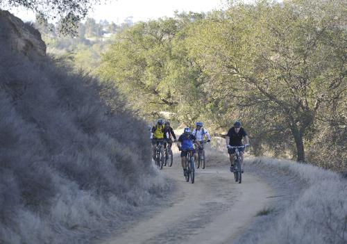 Bikers on a Trail in Irvine Ranch