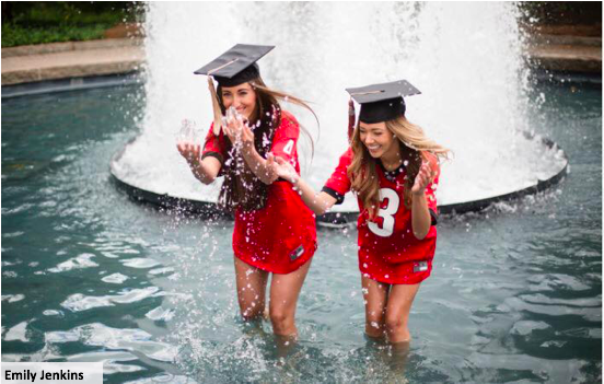 students in fountain