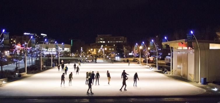Ice Skates & City Lights