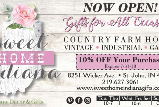 10% Off at Sweet Home Indiana Gifts!