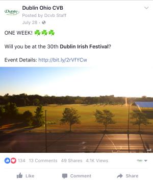 Dublin Irish Festival Video Facebook