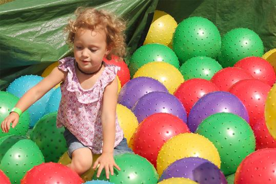 Kid's activities at the Kleefeld Honey Festival in Manitoba