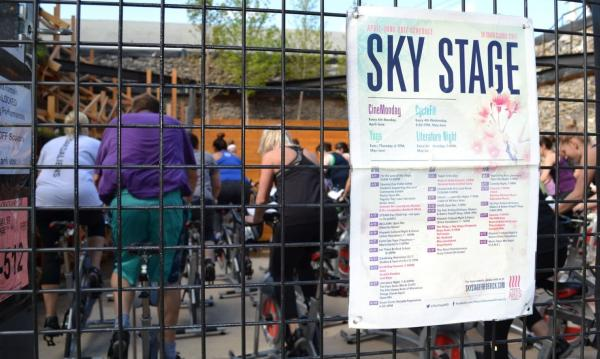 Cyclefit at Skystage Through Gate