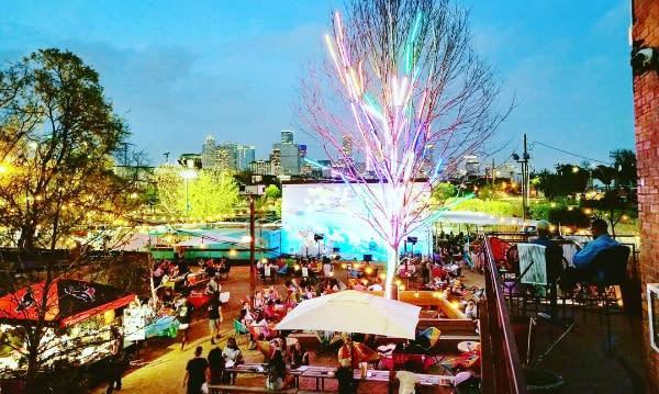 Axelrad's patio in Houston