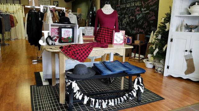 Pop up shop in downtown Martinsville - Simply Styled and The Elephant's Trunk.