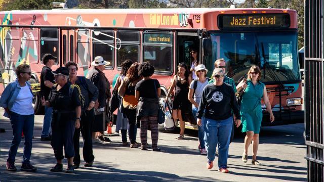 Monterey Jazz Festival bus