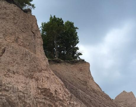 Chimney Bluffs Park