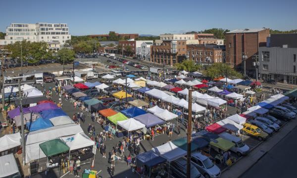 Charlottesville City Market aerial