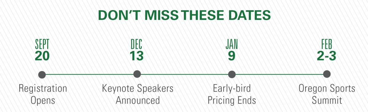 Don't Miss These Oregon Sports Summit Dates
