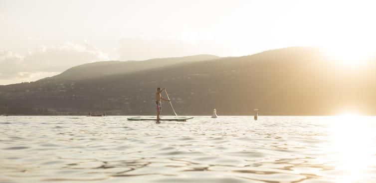 Paddle Boarding Okanagan Lake