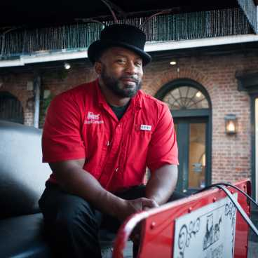 French Quarter Carriage Driver & Tour Guide, Kevin Joseph, of Royal Carriages