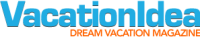 Logo for Vacation Ideas: Dream Vacation Magazine
