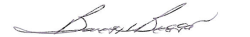 Barry Biggar signature