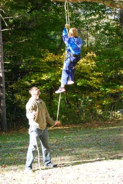 Climb a tree at the Fall Colors Festival at McCloud Nature Park