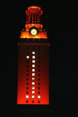 University of Texas Tower orange