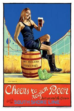 Brewery Poster Cheers To Region Beer