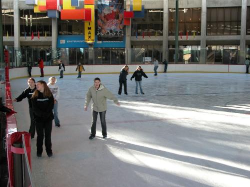 People skating at Ice Palace