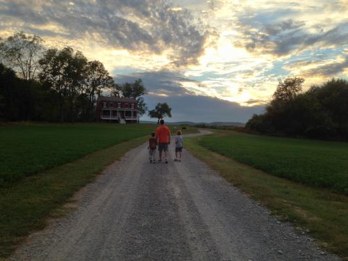 Family at Monocacy National Battlefield in Frederick