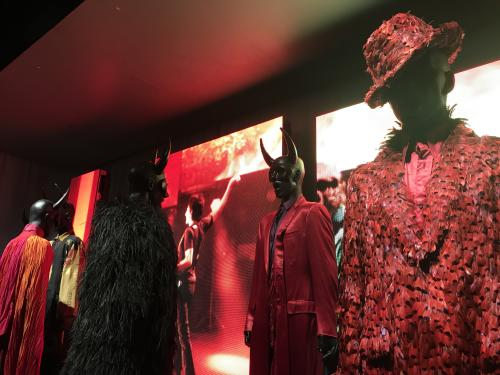Fashion displays from Exhibitionism — The Rolling Stones