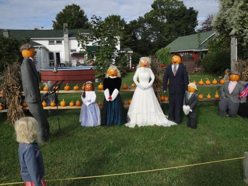 Iron Kettle Pumpkin Display